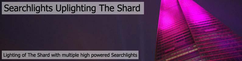 Searchlights Uplighting The Shard