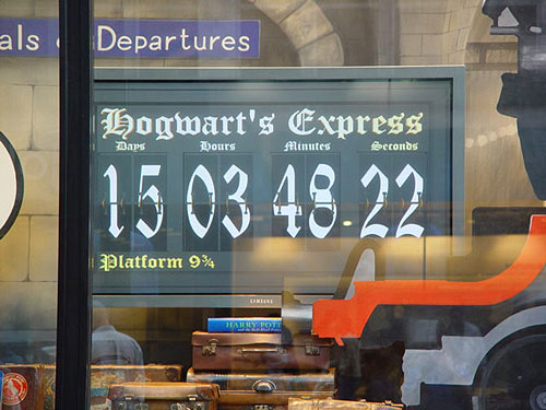 countdown clock to Harry Potter book release