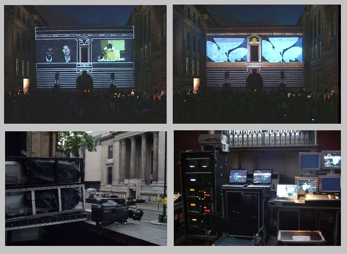 Large Outdoor Video Projection, V&A Museum, London
