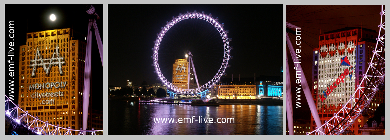 Massive outdoor building projection for Monopoly launch, The Shell Building. London.