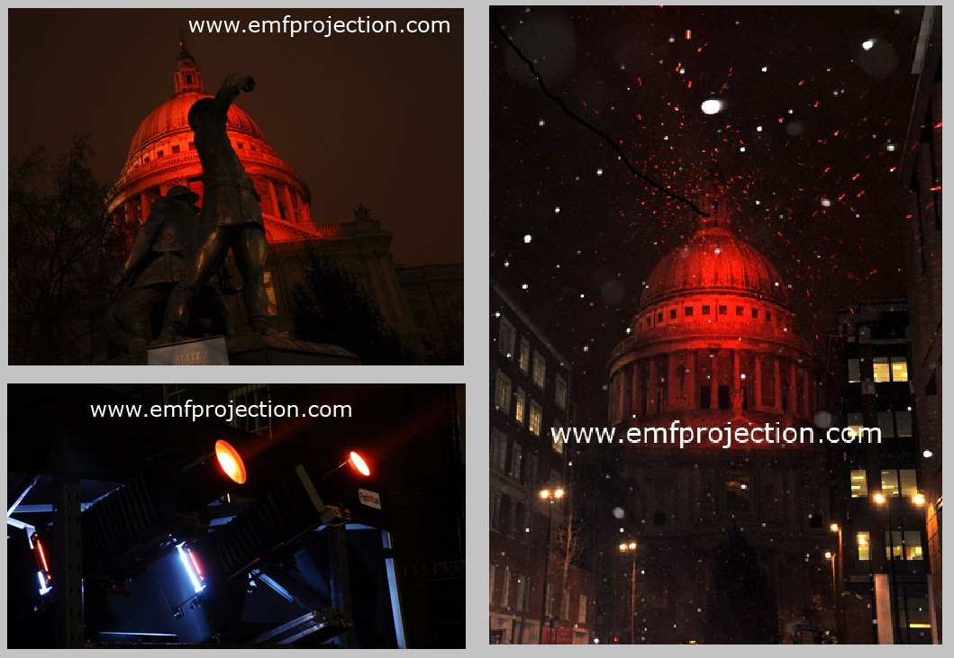 Outdoor Projection onto St Paul's Cathedral