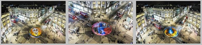 X-MEN PROJECTION OXFORD CIRCUS LONDON