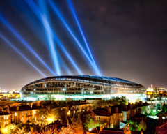 Searchlights for stadium events