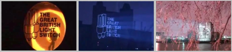Great British Light Switch mobile projection campaign in London