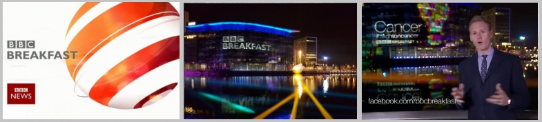 BBC Cancer Week Video Projection Mapping