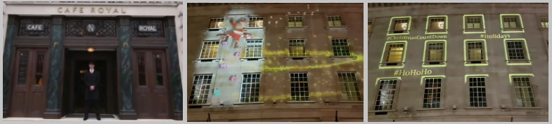 3D Projection Mapping onto Cafe Royal London for Christmas