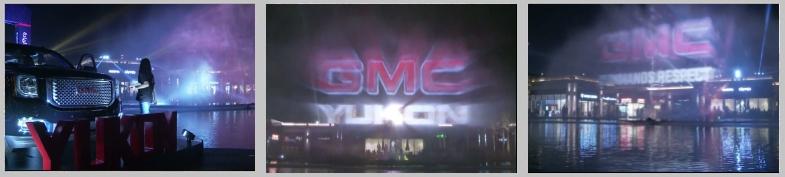 Water Screen Show in Dubai for car manufacturer GMC