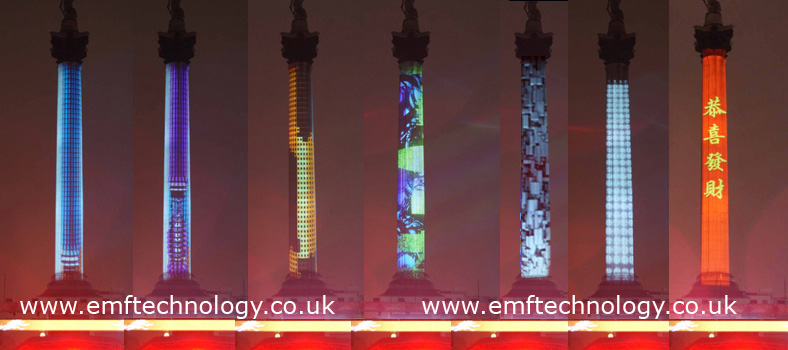 Chinese New Year Nelson's Column Projection