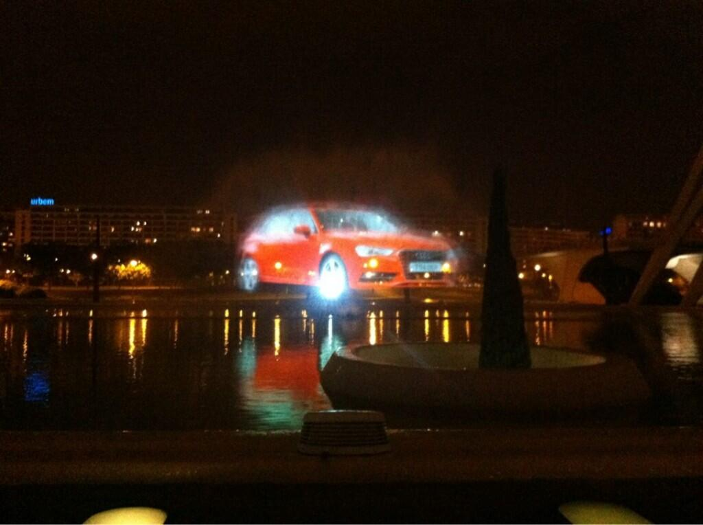 Audi Waterscreen projection