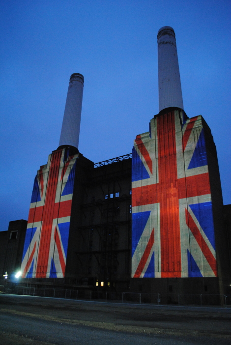 Building Projection Battersea Power Station