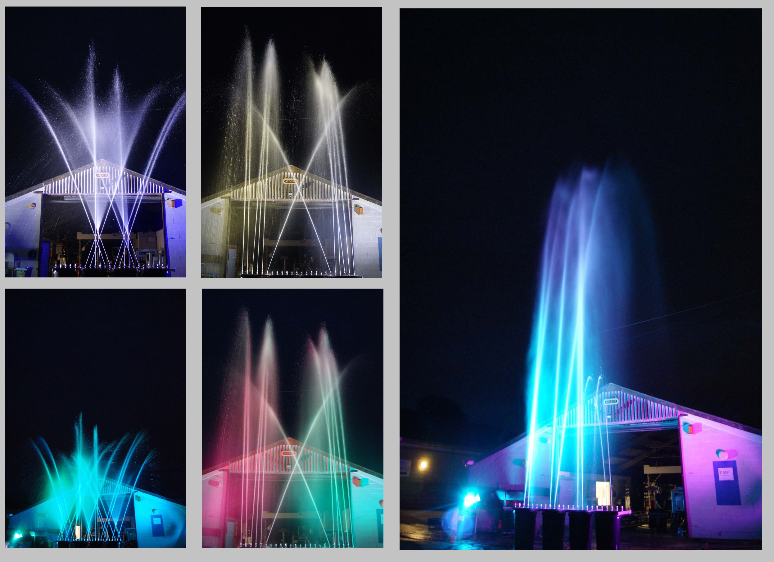 Animated Jet Fountains for European Theme Park