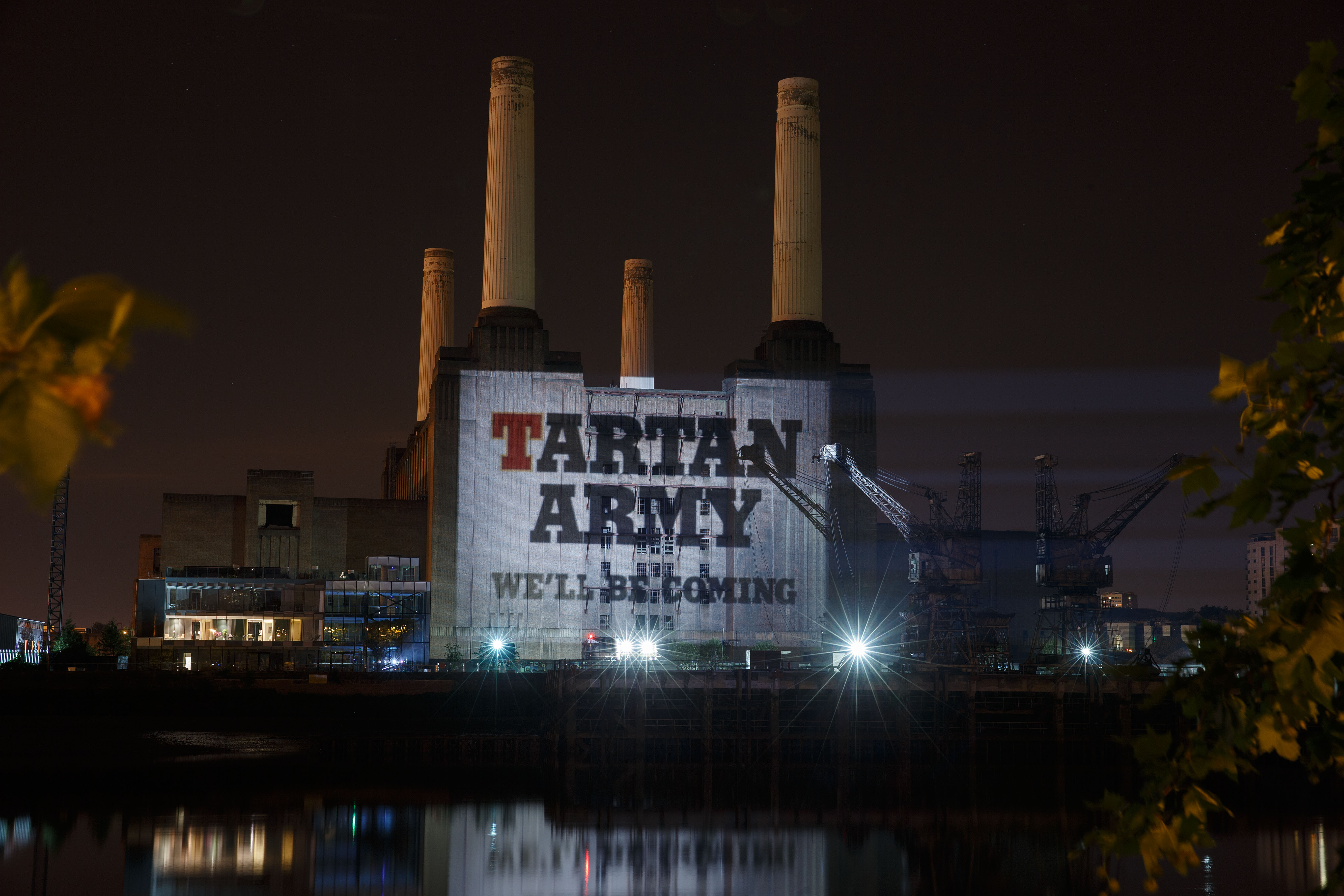 TARTAN ARMY PROJECTIONS BATTERSEA POWER STATION