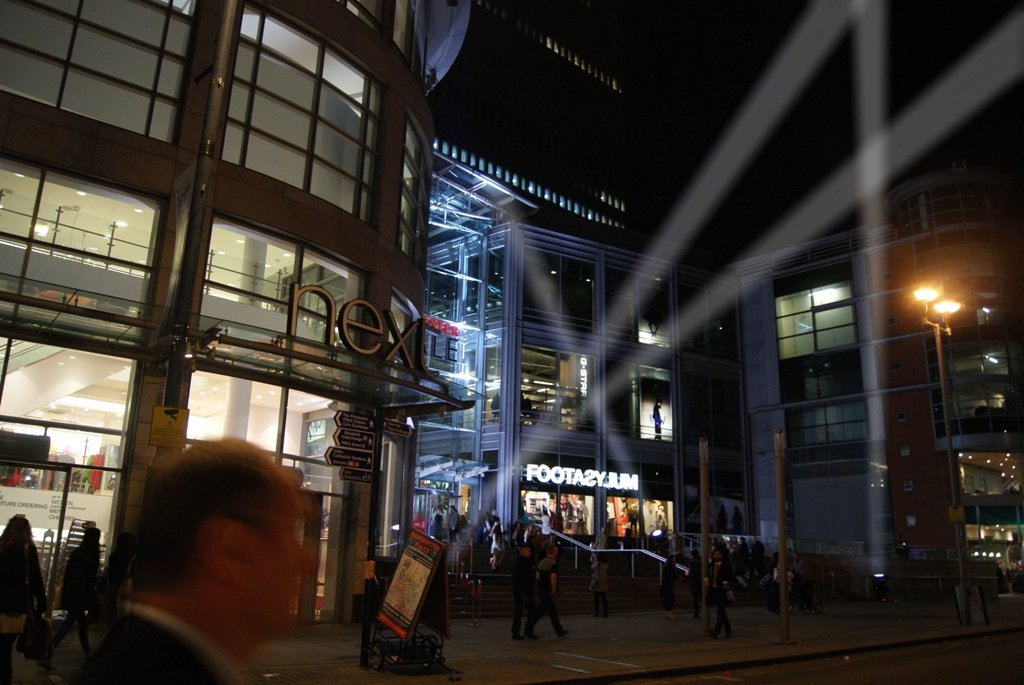 Manchester Arndale Centre Searchlights