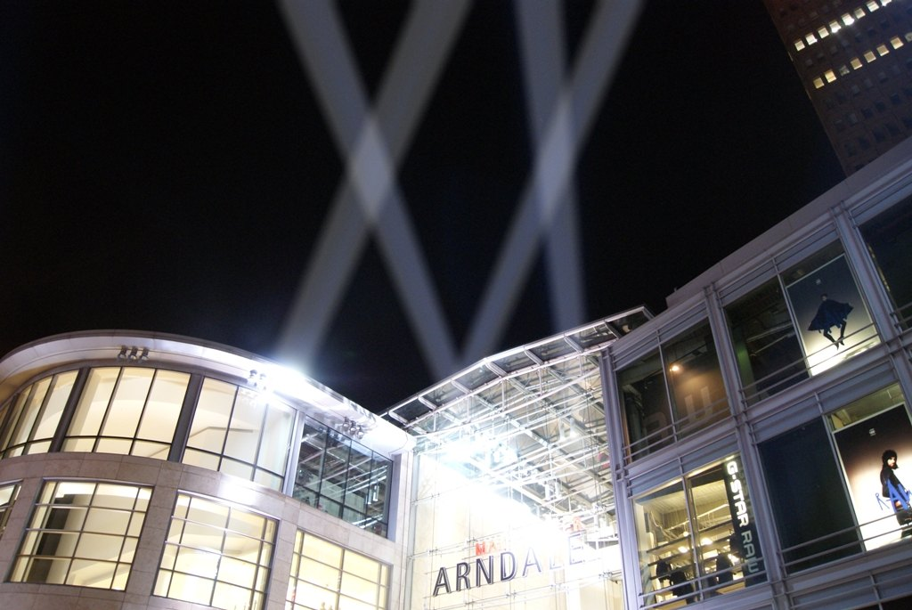 Searchlights at Manchester Arndale Centre