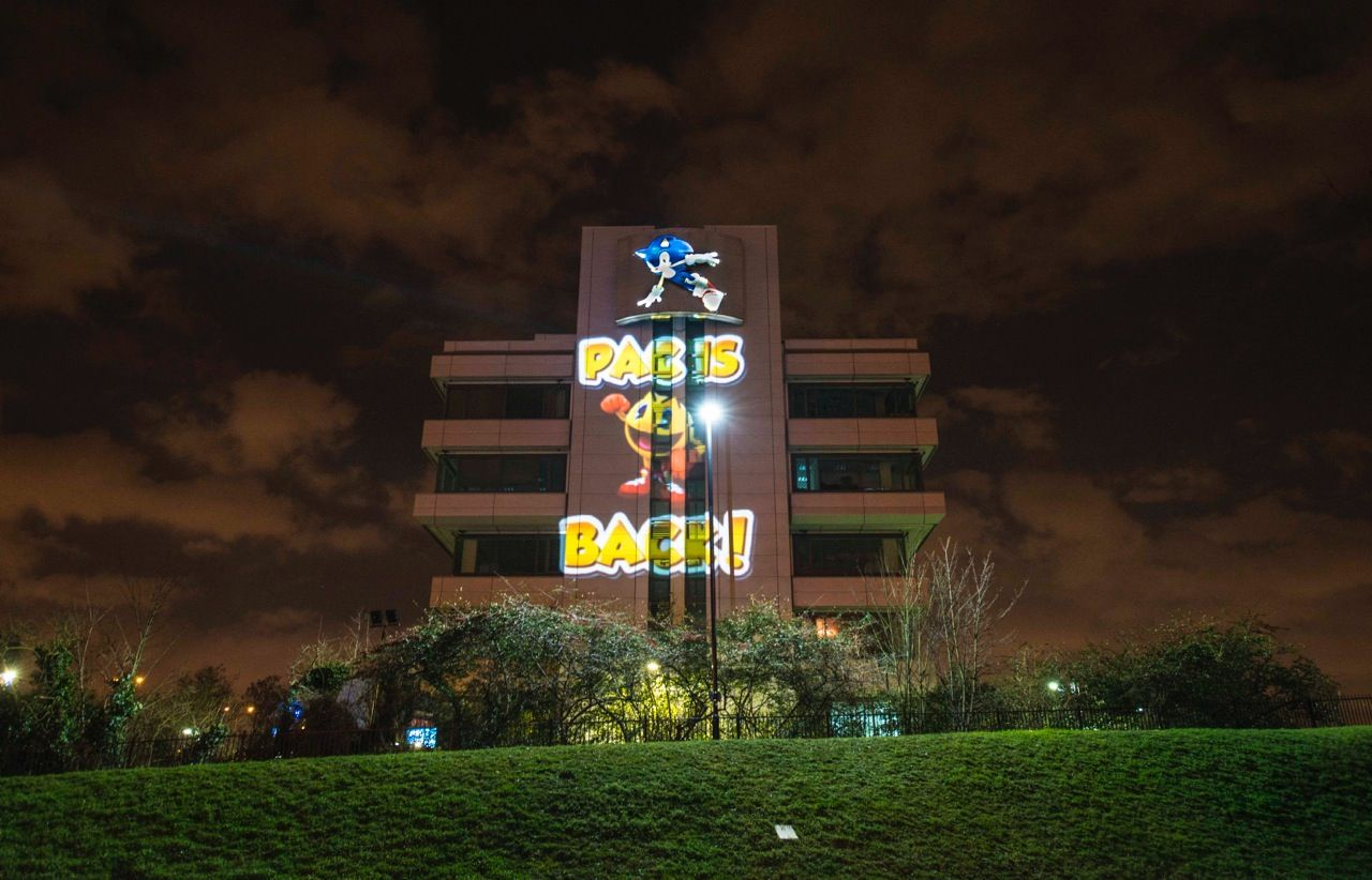 Pac Man Projection Stunt