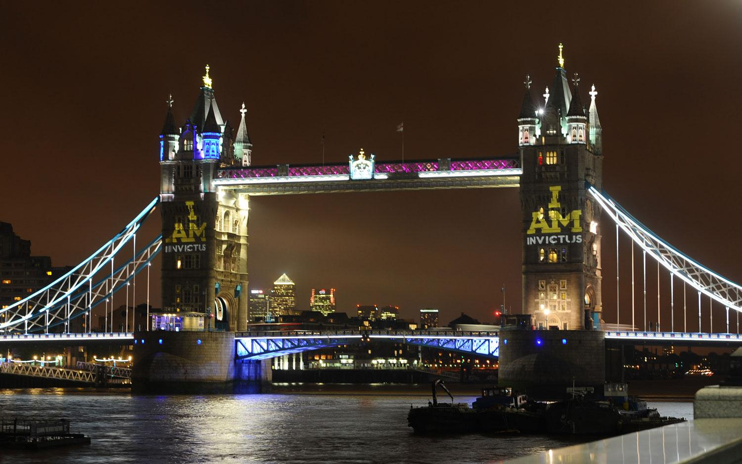 Projection onto Tower Bridge for Invictus Games