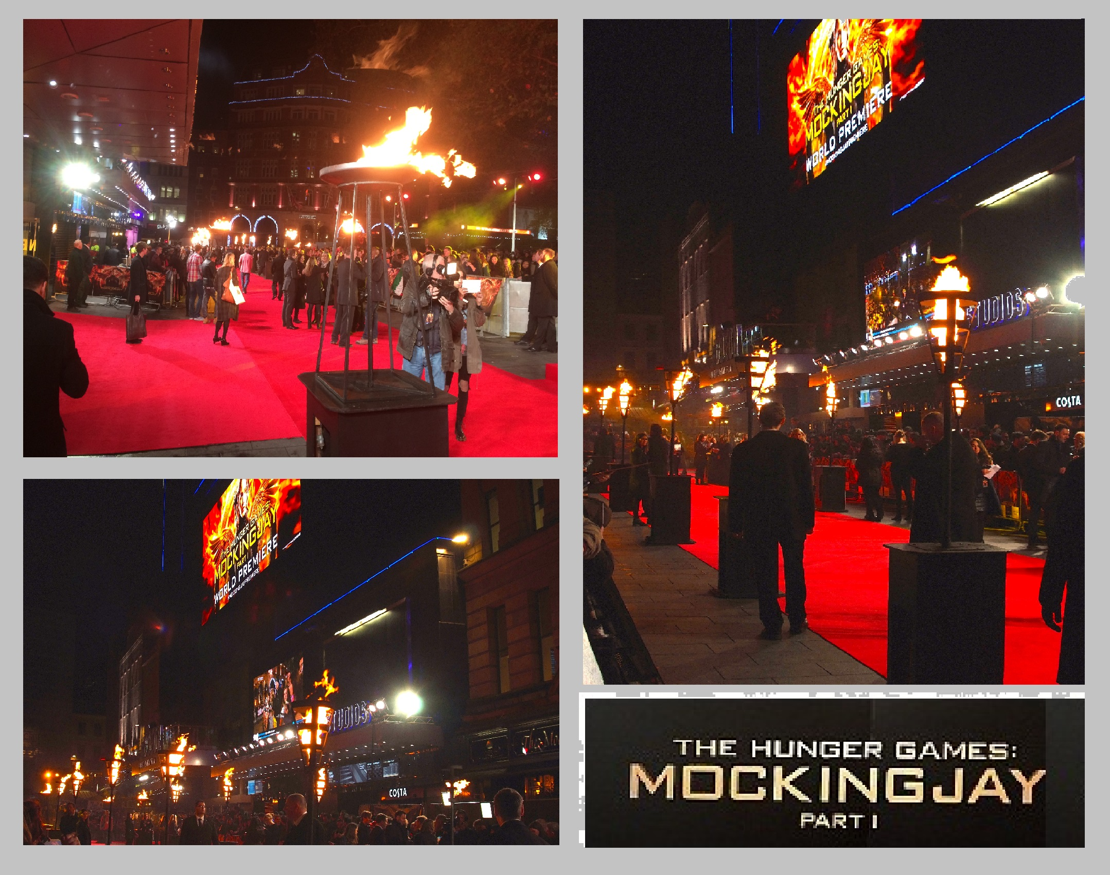 MOCKINGJAY PART 1 LONDON PREMIERE FLAMBES