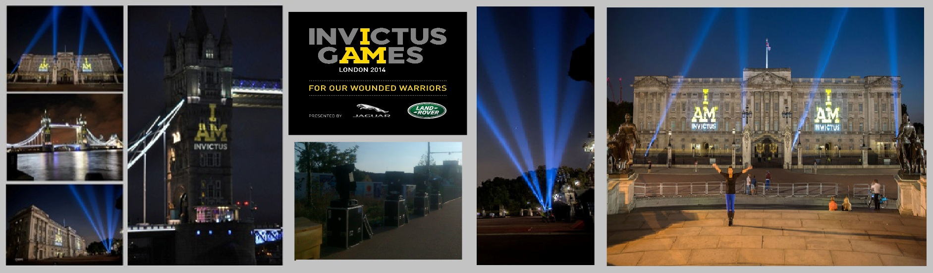 Searchlights over London for Invictus Games