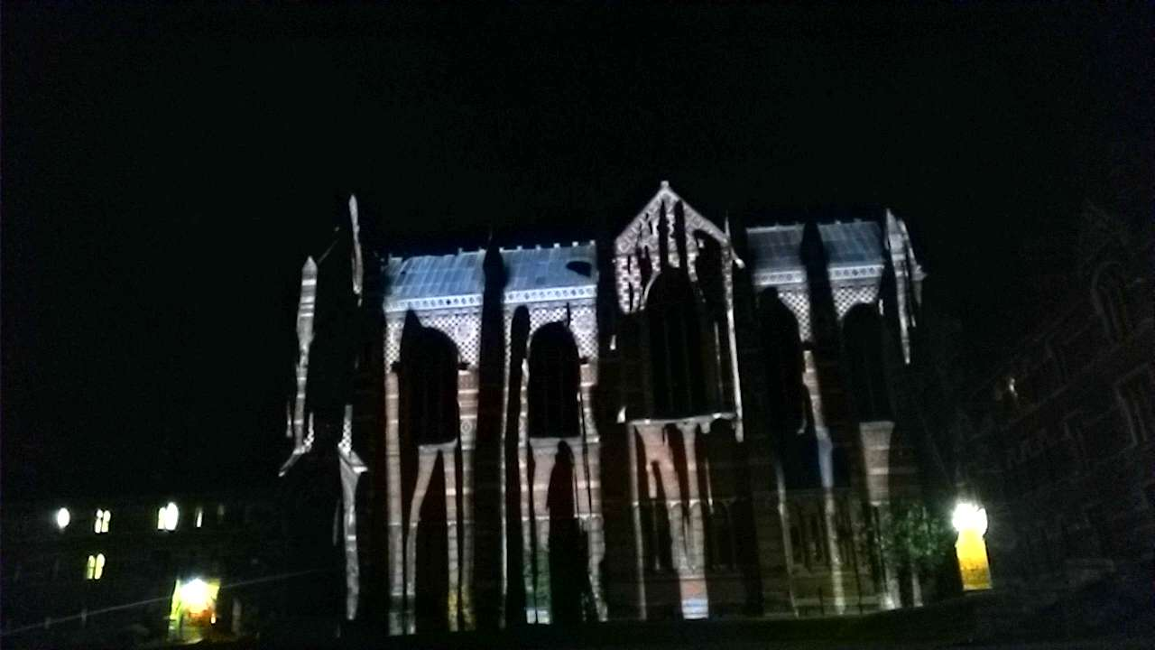 Keble Ball Video Mapping Oxford Building