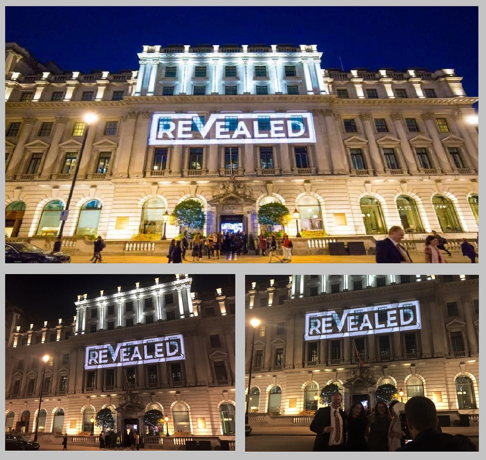 Revealed Exhibition projection London