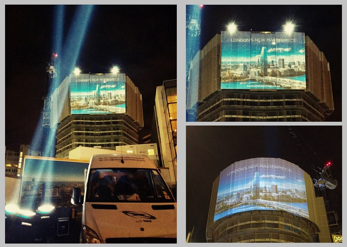 building projection Projection mapping, also known as video mapping and spatial augmented reality, is a projection technology used to turn objects, often irregularly shaped, into a.