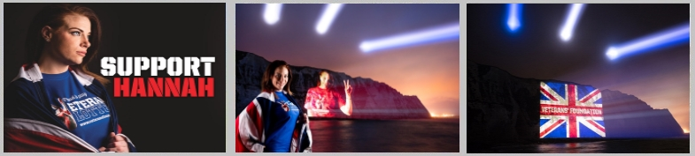 Projection Mapping onto  White Cliffs of Dover to mark 100th anniversary of the Somme