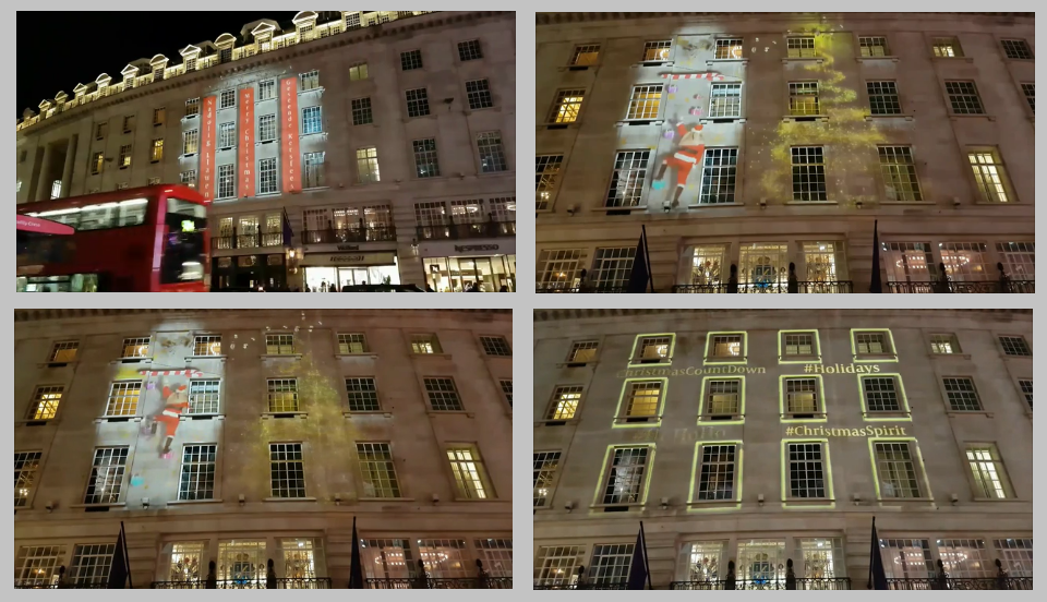 Cafe Royal Christmas Projections