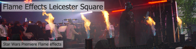 EMF Flame Effects in Leicester Square