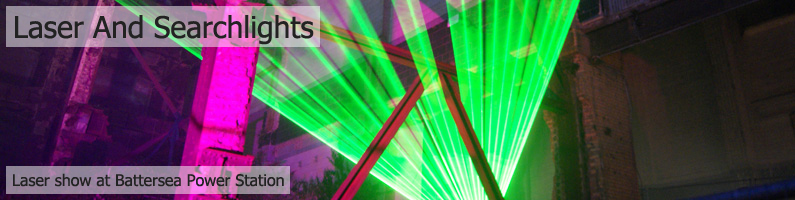 EMF Lasers and Searchlights