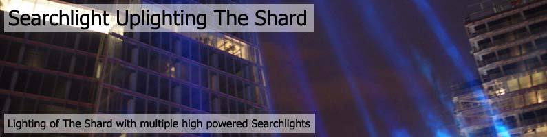 EMF Searchlights Lighting The Shard, London