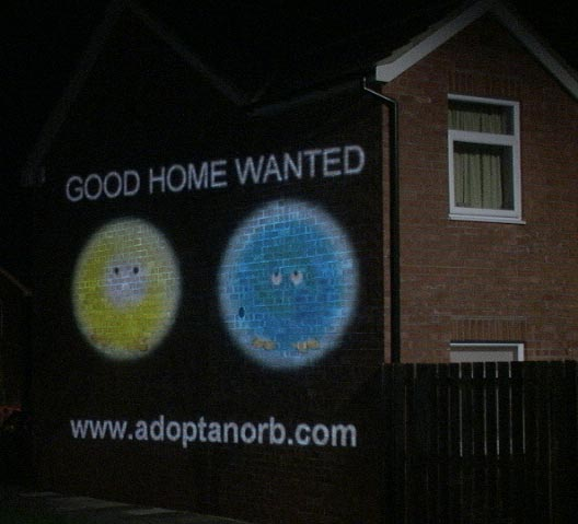 Mobile advertising projection campaign