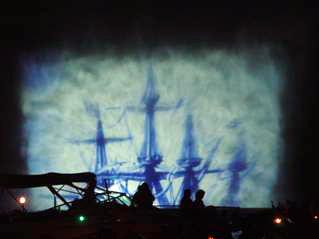 Waterscreen projection show Henley Festival