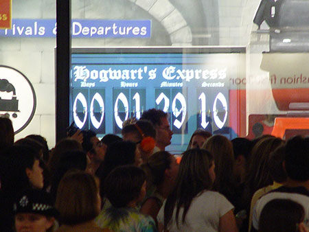 Countdown clock at Harry Potter Book Reveal