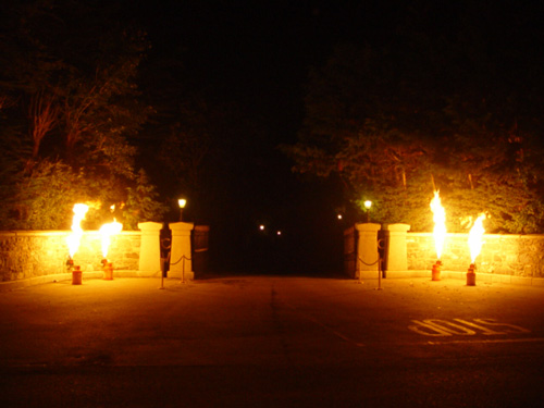 Flame effects for driveway