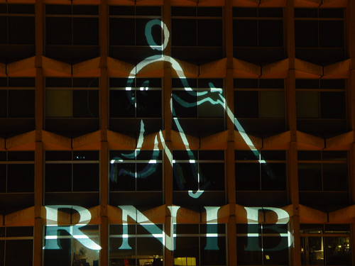 Building Projection onto Centrepoint, London