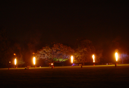 Flame effects for Battersea Fireworks
