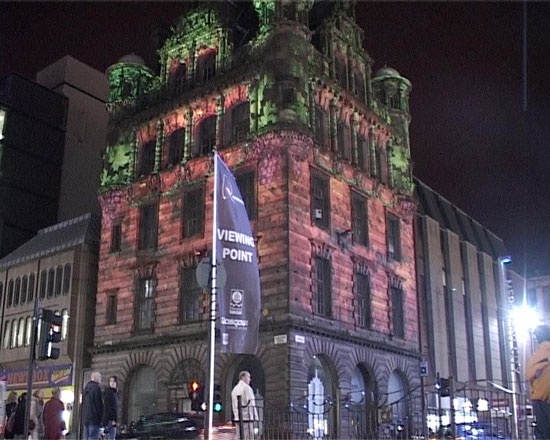 Glasgow Festival of Light Building Projection