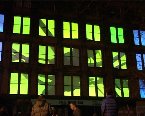 Glasgow Festival of Light Video Building Projection
