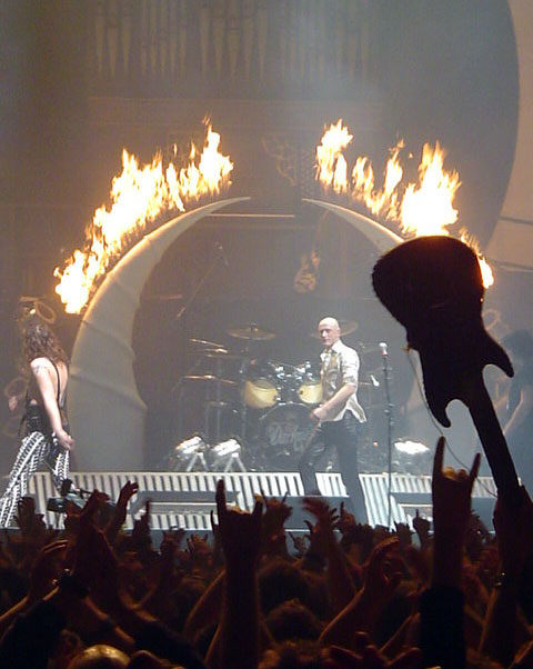 Stage flame effects for The Darkness Tour