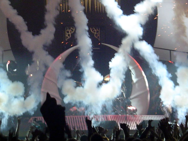 Smoke effects for The Darkness Tour