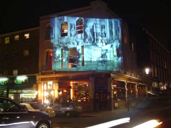 Video Projection Advertising Campaign for Peroni Beer