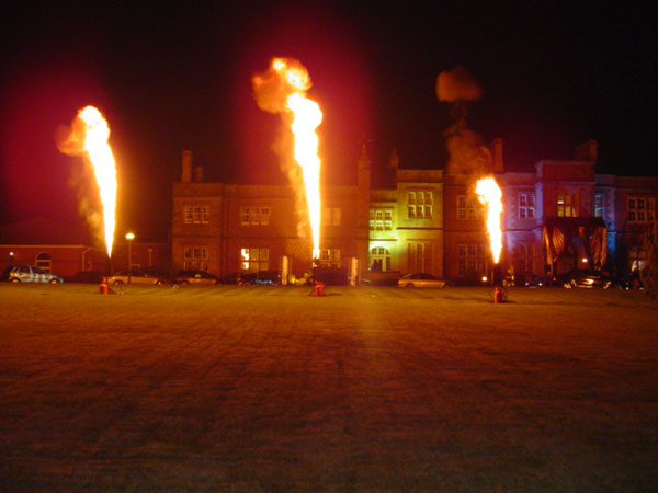 Vulcan Flame effects, Cranage Hall