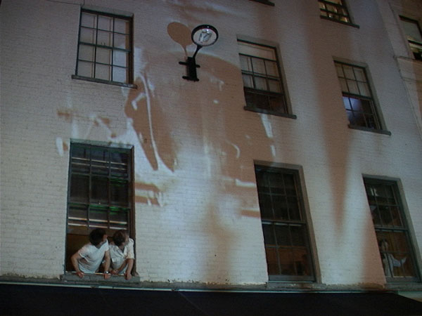 Peroni mobile building video projection campaign