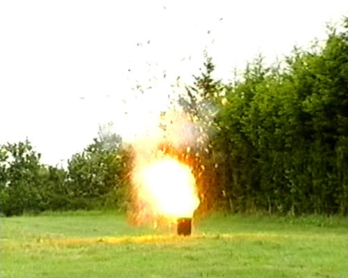 Exploding flame effect for TV