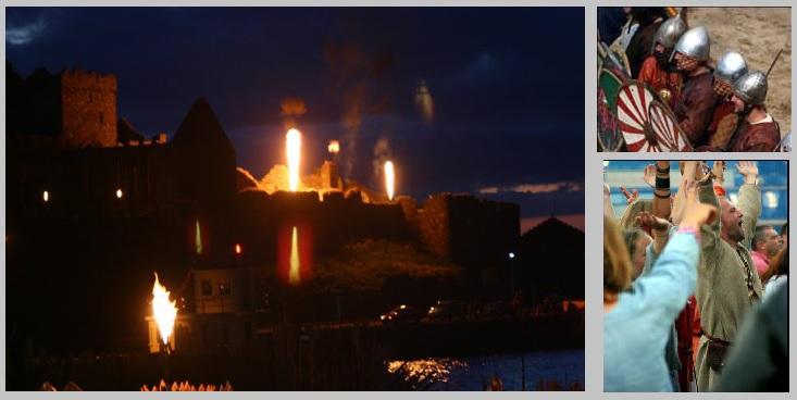 Massive flame effect - Viking Festival
