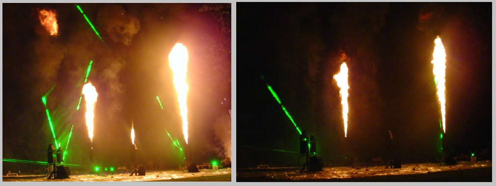 Vulcan Stage Flame System and Laser show