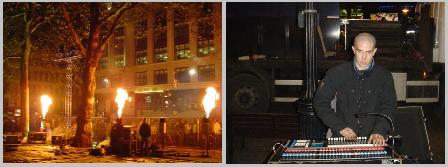 Flame effects Leicester Square Premiere - Prestige