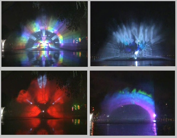 Waterscreen projection show for Walsall Festival
