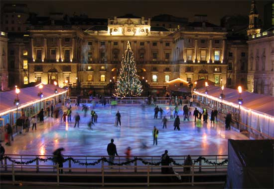 Flame Torches Somerset House Ice Rink