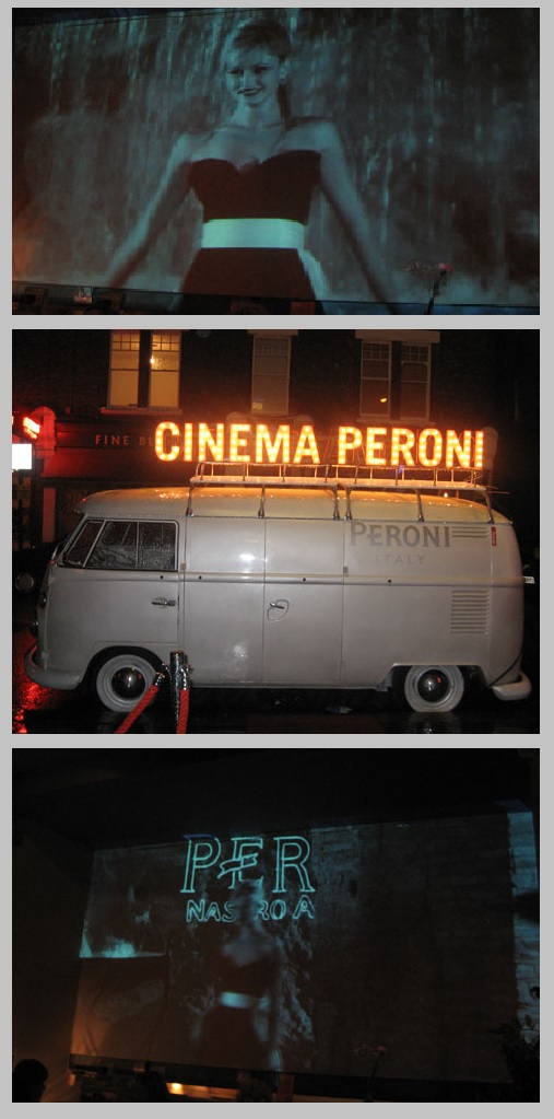 Video Projection campaign for Peroni Beer